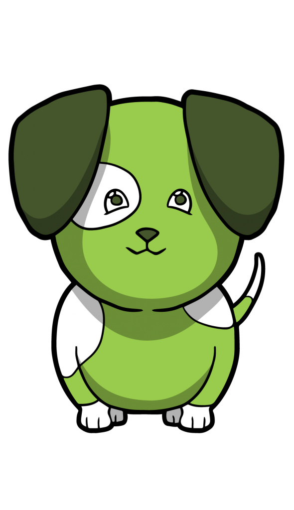 dog full body logo